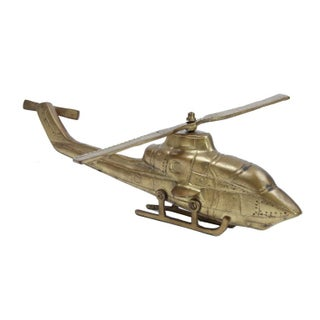 Vintage Brass Helicopter Preview