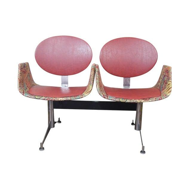 Faultless-Doerner Steel Base Tandem Seating For Sale