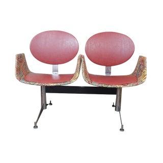 Herman Miller Style Seating on Faultless-Doerner Steel Base Tandem Seating For Sale