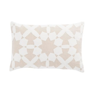 Nikki Chu by Jaipur Living Casino Beige/ Ivory Geometric Down Throw Pillow
