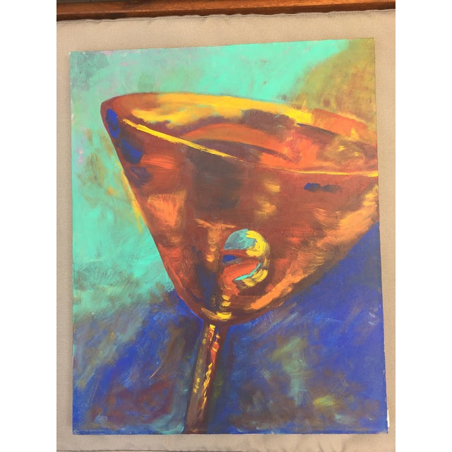 "Martini Painting 16"" by 20"" - canvas on acrylic - signed by Jennifer Hopkins-Wilcox. Unframed."
