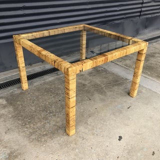 Vintage Wrapped Rattan Side Table Preview