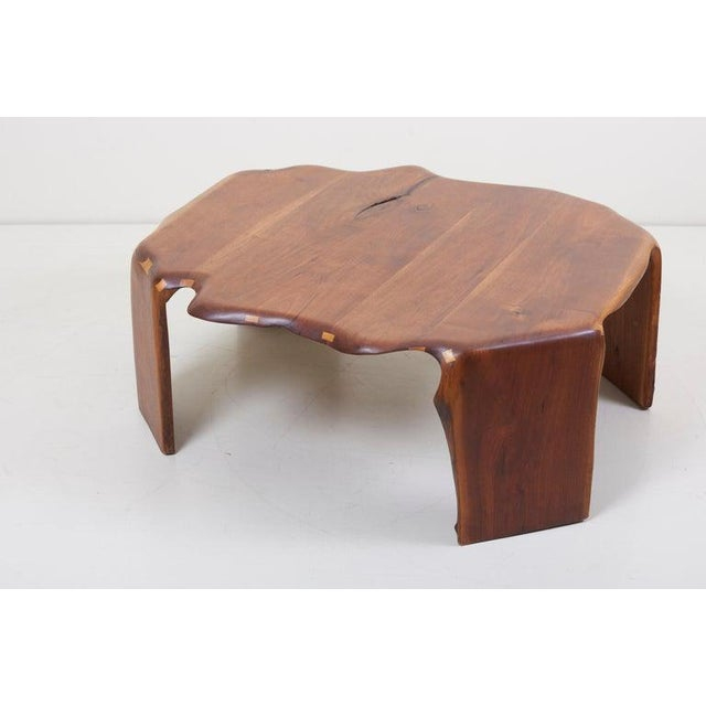 One of a Kind James Monroe Camp Studio Coffee Table in Walnut, Usa, 1975 For Sale - Image 6 of 12