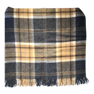 Wool Throw Aysgarth Charcoal Made in England For Sale