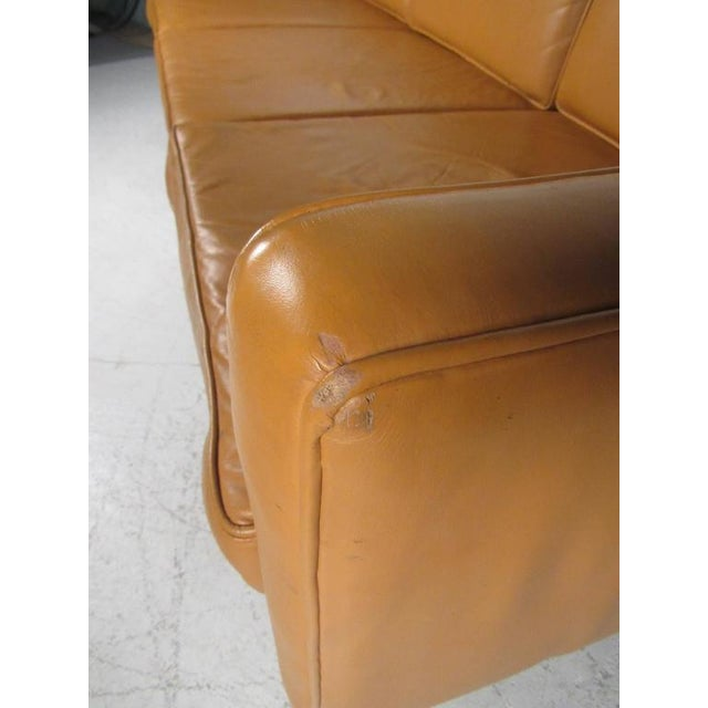 1960s Scandinavian Modern Leather Sofa After Børge Mogensen For Sale - Image 5 of 8