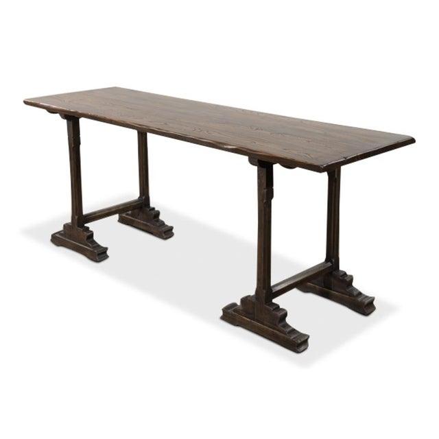 Sarreid Ltd Tuscan Harvest Table Chairish - Narrow harvest dining table