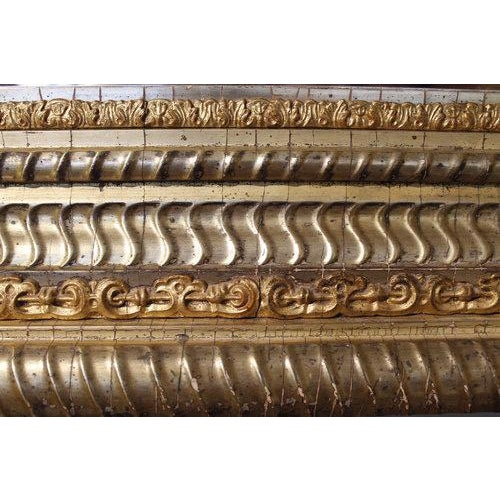 19th Century German Ripple Carved Gilded Mirror For Sale - Image 6 of 7