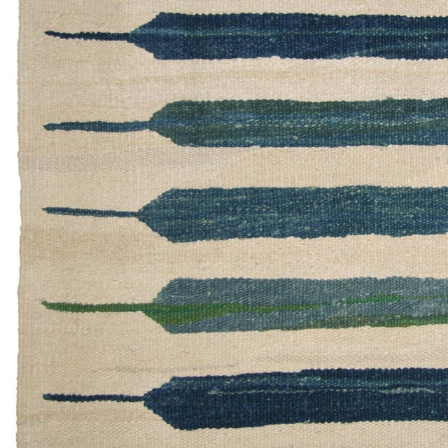 Islamic Rug & Relic Blue-Green Flatweave Yeni Kilim - 3'4 x 4'9 For Sale - Image 3 of 3