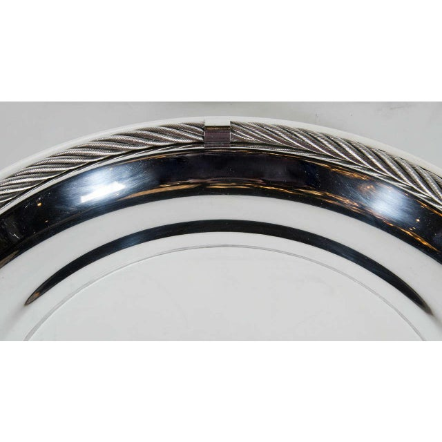Mid-Century Modern Stunning Mid-Century Modernist Tray in Silver-Plate by Christian Dior For Sale - Image 3 of 6