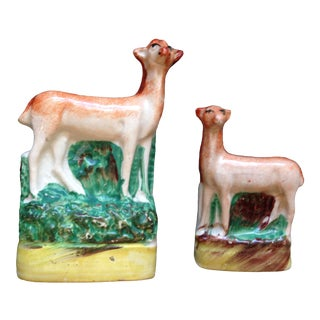Antique English Staffordshire Figurines - Set of 2 For Sale