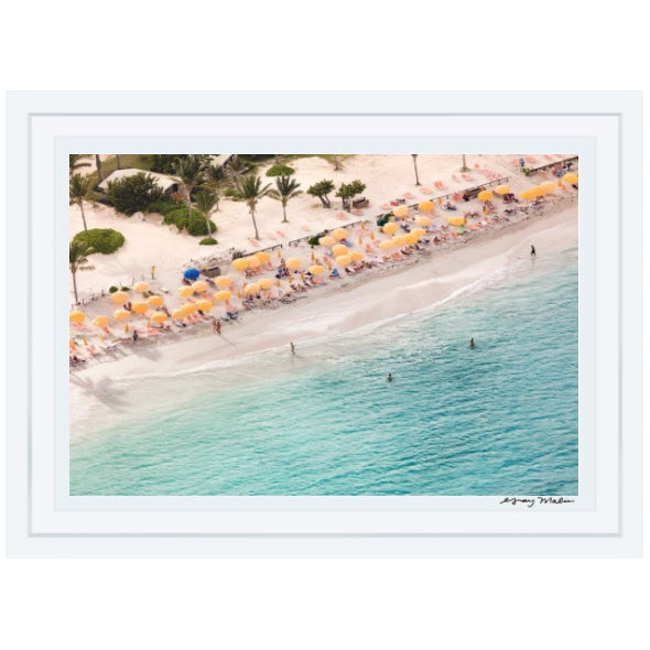 "Gray Malin Large ""St. Maarten Nude Beach"" (à La Plage) Framed Limited Edition Signed Print - Image 2 of 3"