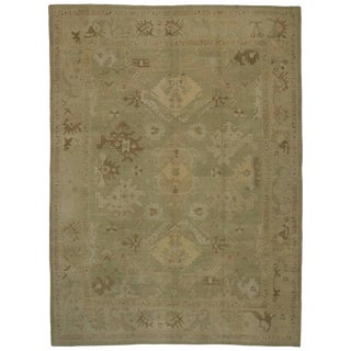 Turkish Oushak Rug With Transitional Style in Neutral Colors, 12'09 X 17'00 For Sale