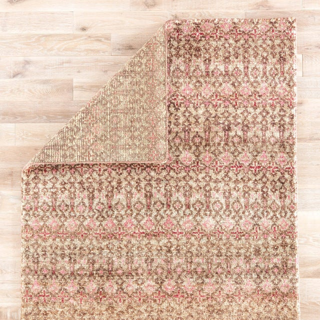 Jaipur Living Cane Hand-Knotted Geometric Brown/ Red Area Rug - 5′ × 8′ For Sale - Image 4 of 6