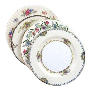 Vintage Shabby Chic Mismatched Dessert Plates - Set of 4 For Sale