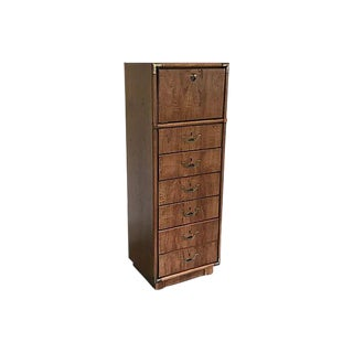 1960s French Country Campaign-Style Drexel Tall Dresser For Sale