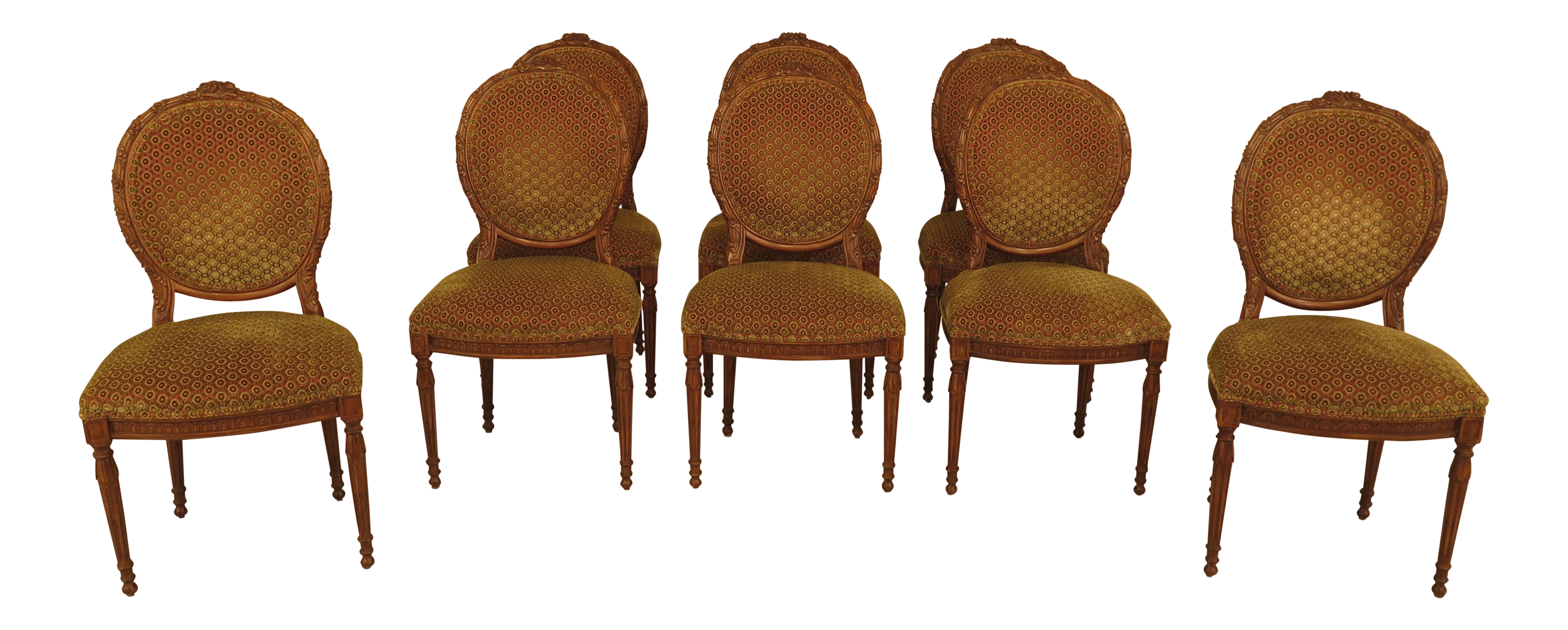 vintage dining room chairs. French Louis XV Carved Walnut Dining Room Chairs - Set Of 8 Vintage A