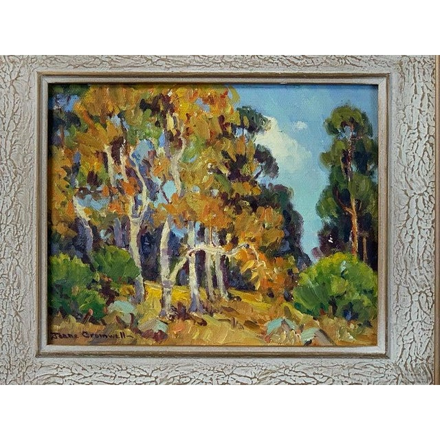 The American School Oil Painting by California Plein Air Painter Joane Cromwell For Sale - Image 3 of 10