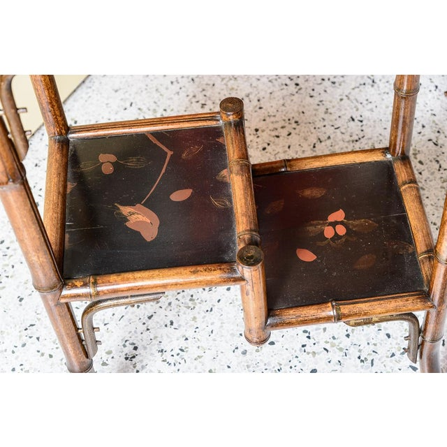 English Bamboo and Lacquer Tray Table For Sale In West Palm - Image 6 of 8