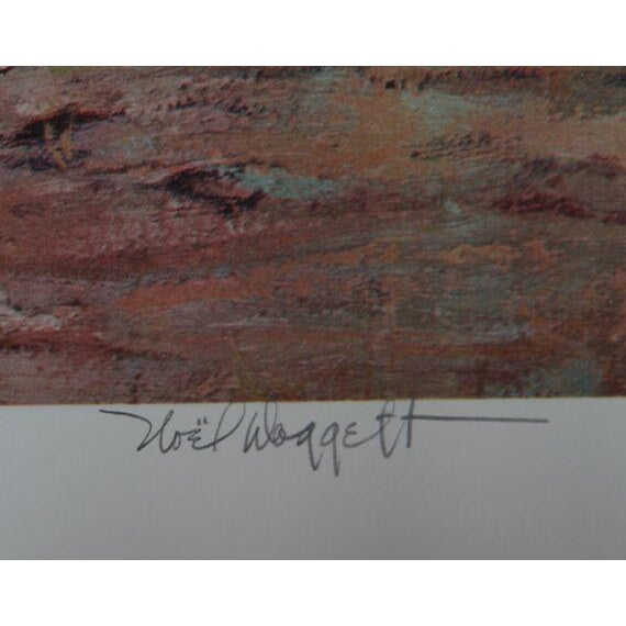 """Noel Daggett, """"A Last Look Back,"""" Lithograph - Image 2 of 2"""