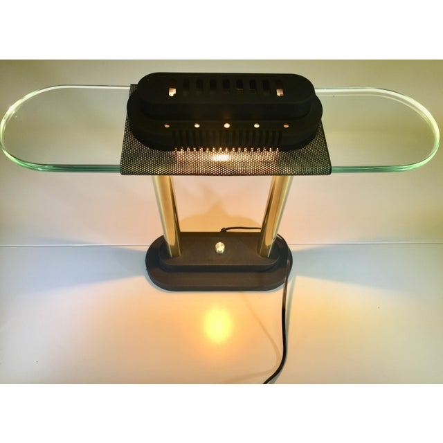 Mid-Century Modern George Kovacs Banker Lamp, Sonneman For Sale - Image 3 of 4