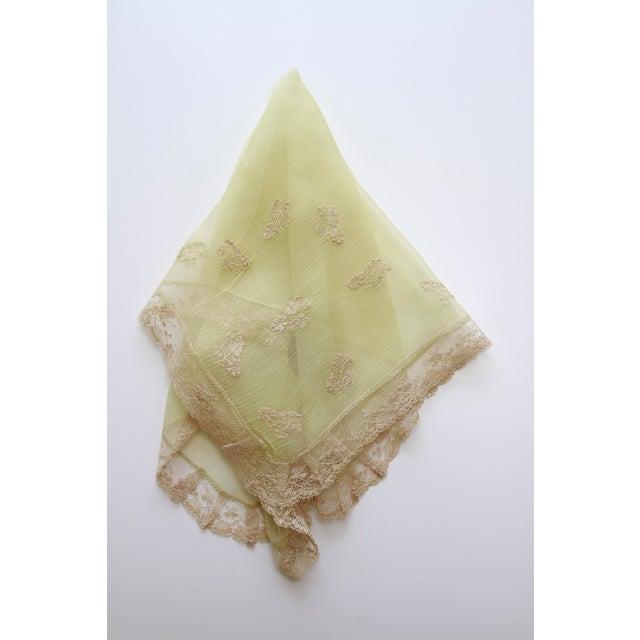 1920's Art Deco Green Silk Crepe Flapper Handkerchief - Image 4 of 10