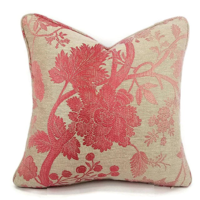 Fabric Nina Campbell for Osborne Little Amazonas Self-Welt Backed Casamance Pillow Cover For Sale - Image 7 of 7