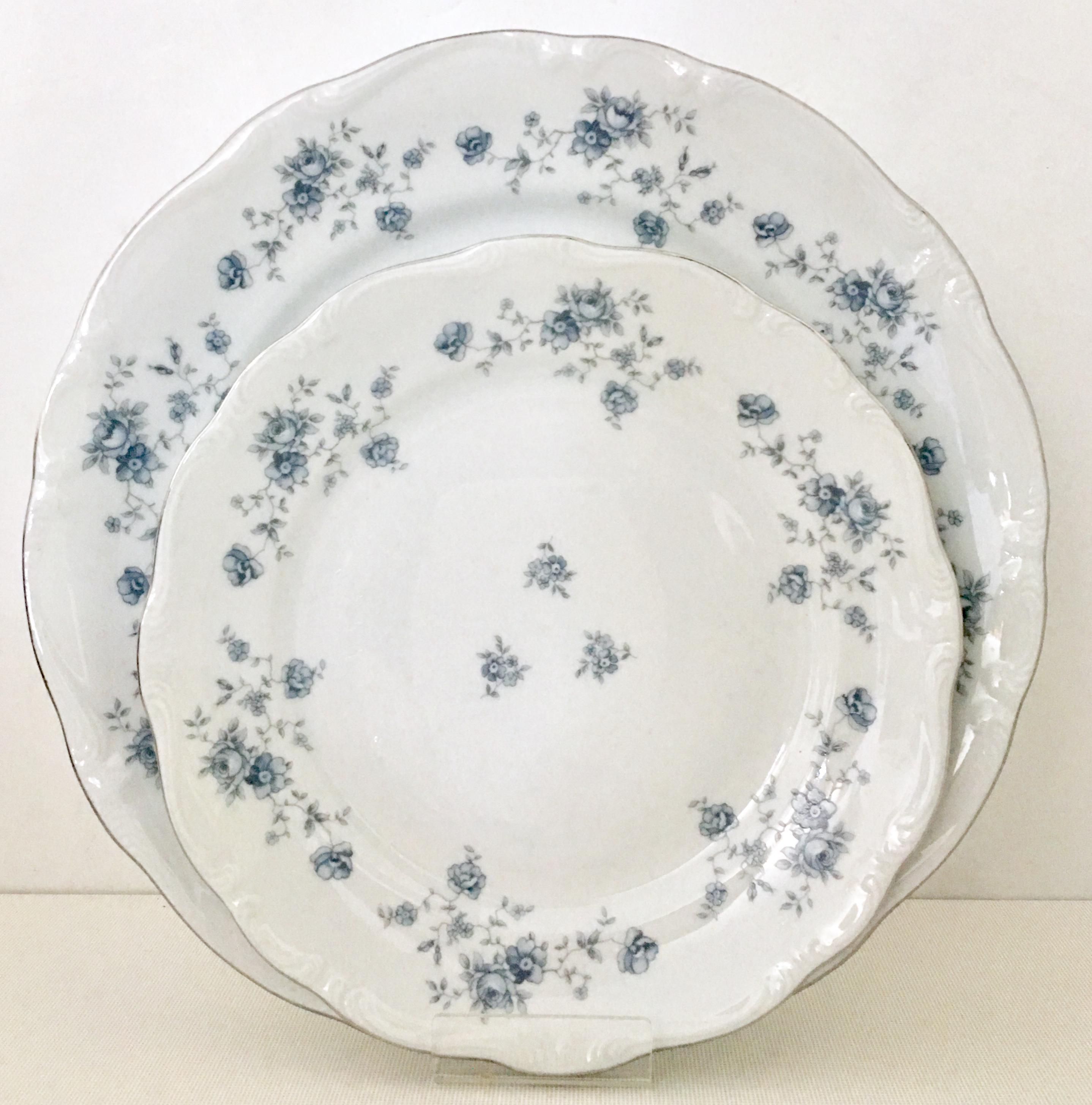 Johann Haviland German Porcelain \u0026 Platinum \ Blue Garland\  Dinnerware - Set of 30 -  sc 1 st  Chairish & Johann Haviland German Porcelain \u0026 Platinum \