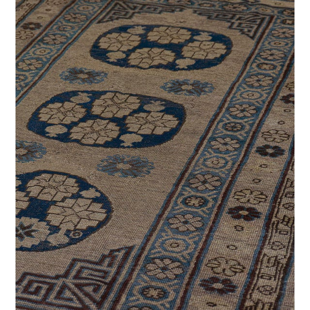 Mid 19th Century Traditional Antique Handwoven Wool Persian Khotan Runner For Sale - Image 5 of 6