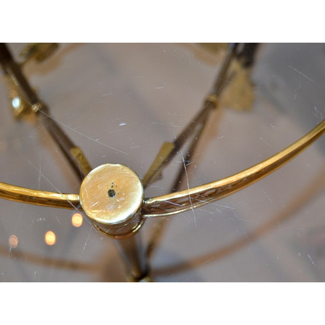 Round Bronze Glass Coffee Table Ball and Claw Feet For Sale - Image 10 of 13
