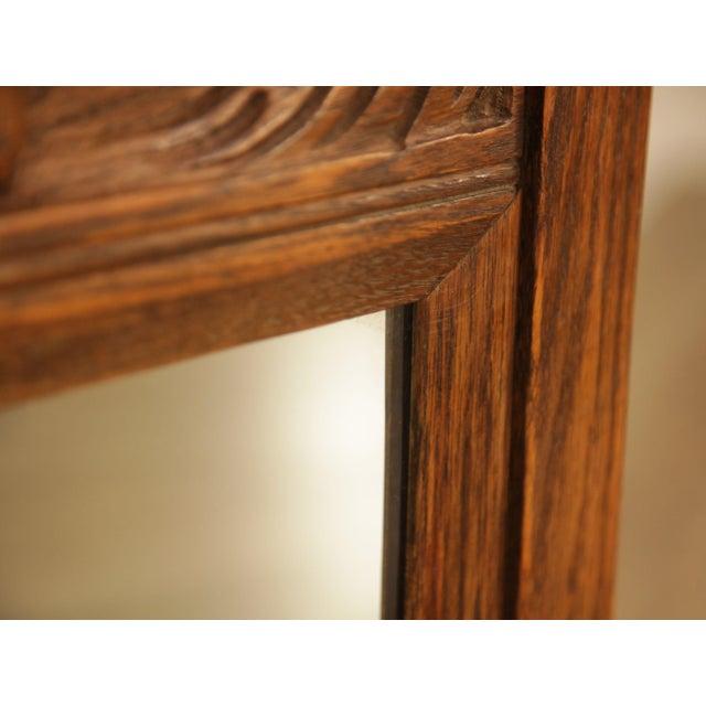 Feudal Oak Jamestown Lounge Carved Frame Mirror For Sale - Image 10 of 12