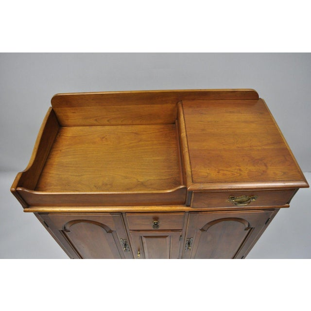 Pennsylvania House Pennsylvania House Solid Cherry Wood Colonial Drysink Dry Sink Cabinet Server For Sale - Image 4 of 12