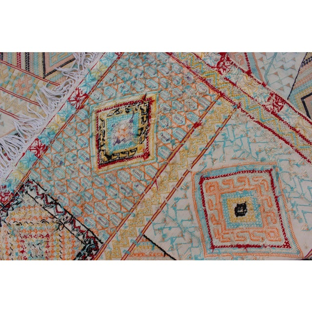 Mid 20th Century Keivan Woven Arts, S12-0303, Vintage Mid-Century Embroidered Moroccan Rug - 5′ × 9′ For Sale - Image 5 of 10