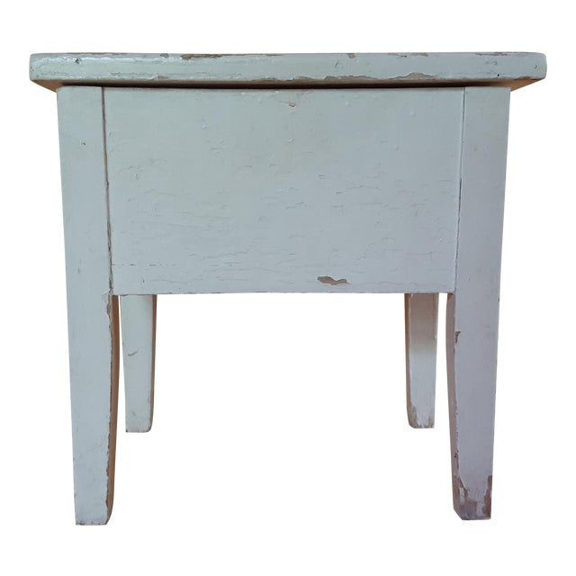 Shabby Chic Wooden Stool - Image 1 of 7