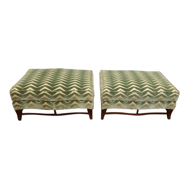Classic Donghia Victoire Ottomans - a Pair For Sale