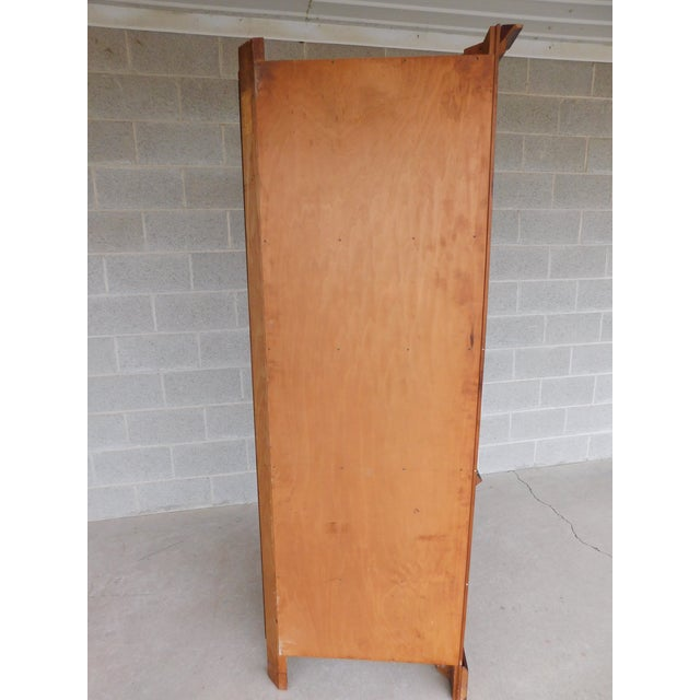 Features Fine Quality Solid Construction, Solid Pine Wood, Individual Glass Panes, with Key - Approx 60 Years Old (...