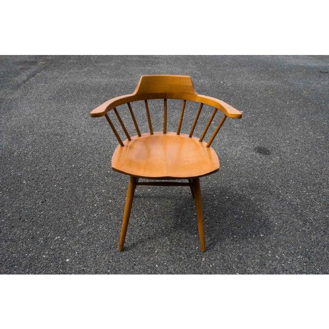 George Nakashima Walnut Captain Chairs by George Nakashima- Set of 6 For Sale - Image 4 of 7