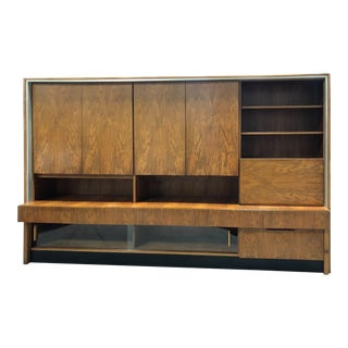 1960s Monumental Teak Wall Unit and Bar Custom Made in Germany For Sale