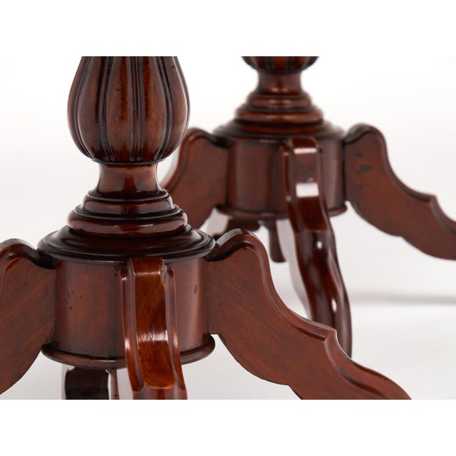 Antique Faux Louis Philippe Side Tables - A Pair For Sale - Image 9 of 10