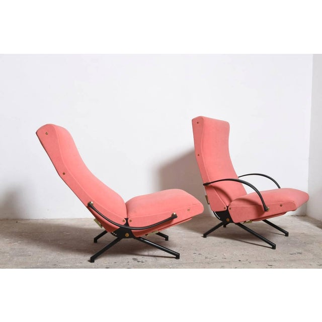 Metal Set Osvaldo Borsani, P40 Lounge Chairs for Tecno For Sale - Image 7 of 11