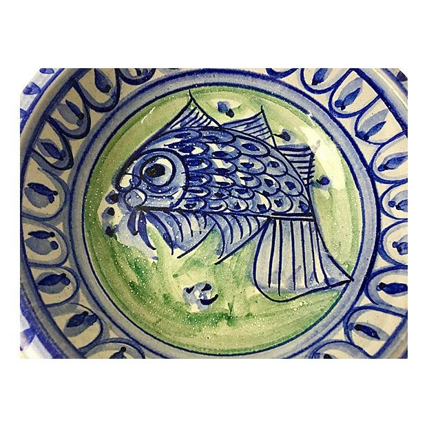 Contemporary Fish Motif Terracotta Bowls - A Pair For Sale - Image 3 of 3