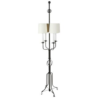 Tommi Parzinger Iron Floor Lamp For Sale