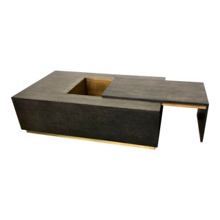 Contemporary Mr. & Mrs. Howard Eugenia Faux Shagreen Coffee Table For Sale