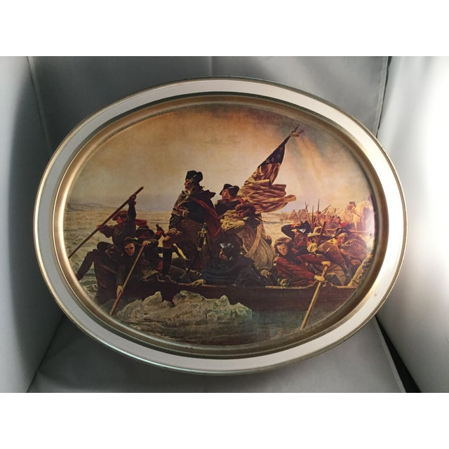 Washington Crossing the Delaware Decorative Biscuit Container For Sale - Image 10 of 11