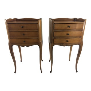 Louis XV Style Walnut Side Tables - A Pair