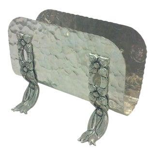 Hammered Aluminum Napkin Holder