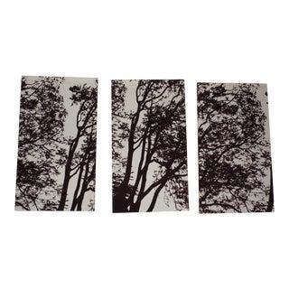 Vintage Authentic Marimekko Tuuli 3 Fabric Art Panels Tree Wall Mural 1970's For Sale