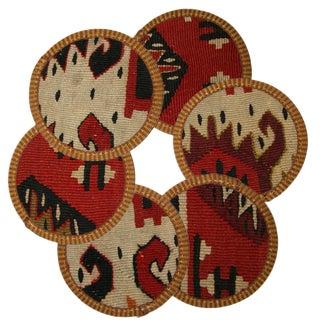 Rug & Relic Kilim Coasters Set of 6 - Uluabat