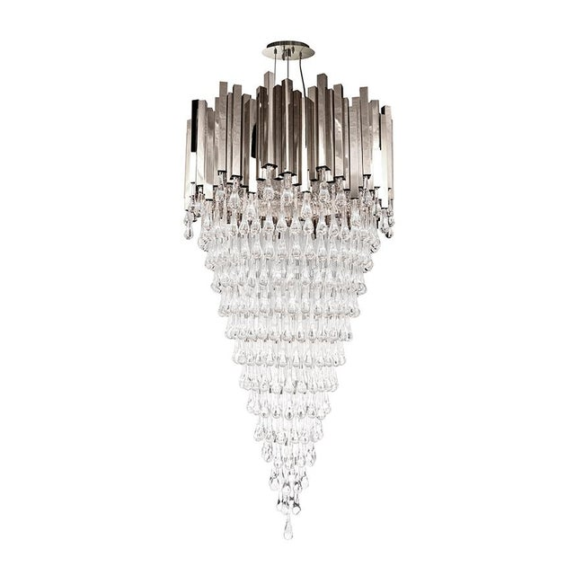 Contemporary Chandelier Drop Water From Covet Paris For Sale - Image 3 of 4