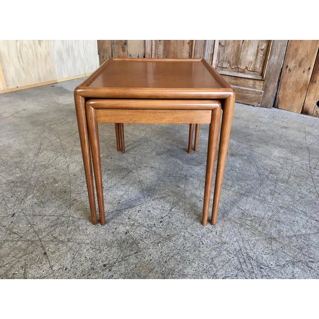 Nesting Tables by t.h. Robsjohn-Gibbings for Widdicomb - A Pair For Sale - Image 9 of 11