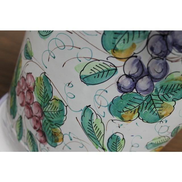 Vintage Italian Castelli Pottery Umbrella Stand Signed L. Pardi For Sale - Image 7 of 11